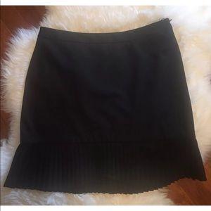 The Limited Black Black Skirt w/ pleated bottom